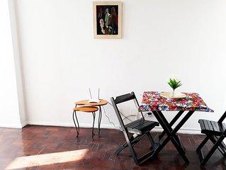 Espetacular Quarto e Sala com Ar e Wi-fi Lapa/Boemia