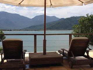 Conforto. Praia particular maravilhosa, piscina, vista, cond fechado, 1:30h Rio