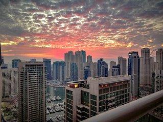 30th Floor: 1 Bedroom (King Bed), Stunning Views, Walk to JBR