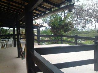 Enorme Casa De Praia Com  Terraço E Bela Vista ,Dentro De Condominio Fechado
