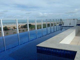 lindo apartamento de frente para o mar na orla mais linda do nordeste