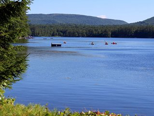 Gilmanton vacation cottage rental with 200 ft. water frontage on Crystal Lake,