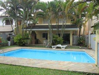 Ótima Casa - 500m da Praia-Módulo 21 -4 dorm - piscina -  até 10 pessoas