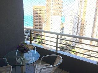 TARIFAS PROMOCIONAIS - 3 quartos casal , ar condicionado,  7 pessoas, vista mar