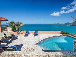 Mongoose Run - 3 Bedroom cliffside villa with pool in Terres Basses