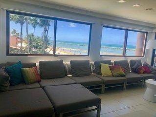 Apartamento beira-mar, exclusivo, unico disponivel a frente do Barra Bali Resort