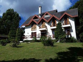 Encantadora casa de 5 qtos em terreno de 3000m2, Wifi, churrasqueira e silêncio#