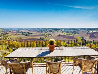 Maison De Charme In A Medieval Village With Stunning Countryside Views & Garden