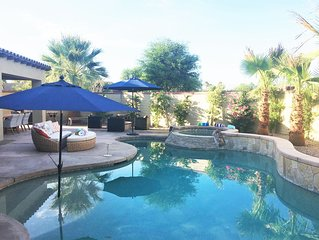 Walk to Festivals!! Private Desert Oasis w/ Pool & Spa