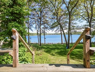 Tranquil Lake Front Home with Private Beach