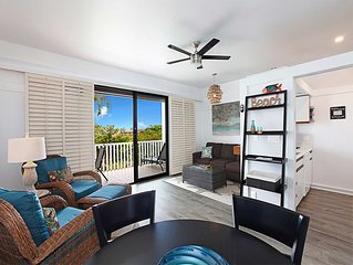Poipu Style! Enjoy WiFi, Flat Screen, DVD, Kitchen, Lanai+Ceiling Fans–Kiahuna 2