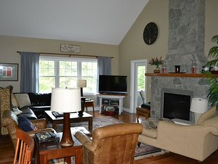 4 Bedroom Well Maintained Home, Nice Yard, Firepit and Pond  in Quechee Lakes