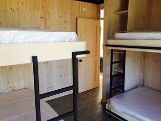 Sustainable  cabin,  2  bedrooms, 2 baths,  great kitchen . Near to the beach