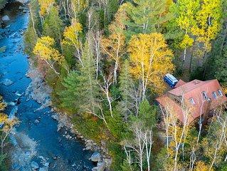 Carrabassett Wheelhouse ~ Mountain Bike Inspired River-front Home