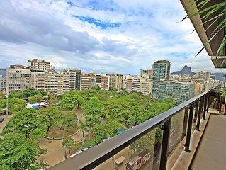 Luxo! Apartamento temporada Ipanema com varanda garagem piscina e academia U012