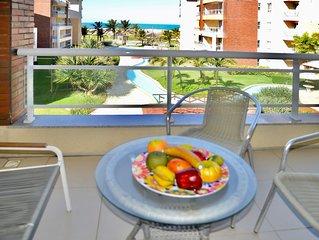 Vista LINDA, Apartamento frente mar, com 105m2, 3 quarto e 3 banheiros, acomoda