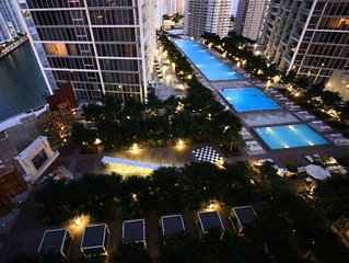 Luxury Waterfront Condo In The Urban Oasis At Icon-Brickell,  W Resort Free SPA
