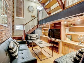 Stunning Upscale Industrial Rowhome Near Fells Point, Canton, and Hopkins
