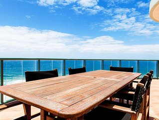 3 Bedroom Ocean View sub-penthouse with expansive beach and ocean views.