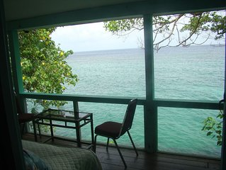 Villa Sake - Executive House, St. Mary  on Cliff overhanging the Caribbean Sea