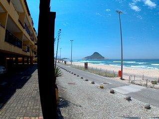 Apt na praia 2 suites 90m2 com vista para o mar