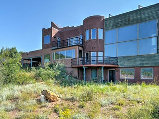 Scenic 'Hawk Hill Retreat House' on 10 Acres w/Spa