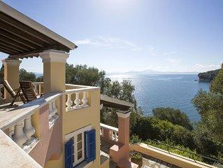 Stunning Corfu villa, unique location, pool, private beach