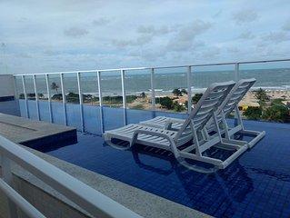 Otimo apartamento em frente ao mar