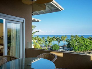 1 BR/2 BA Kona Coast Oceanfront Villa w/ Private Lanai, Walk to Beach