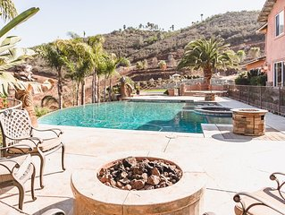 Stunning Estate on 5 acres- Infinity Pool- Bonfire- BBQ area