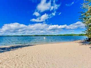 *NEW SEBAGO LAKE RENTAL w/ SAND BEACH * Exceptional Retreat on Jordan Bay