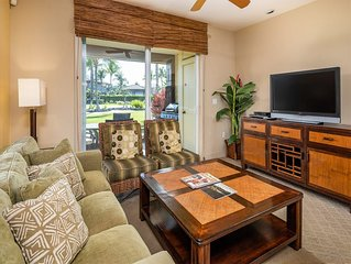 Stylish Suite w/Gourmet Kitchen, Lanai, WiFi, TVs, Laundry+AC–Hali'i Kai Waikolo