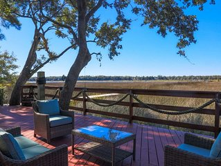 Amazing Backyard Deck with NEW Hot Tub, Boat Dock & Views of the Ashley River