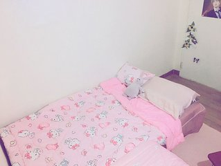 Pink Happy House: 3 mins from Konkuk univ. station, free self food