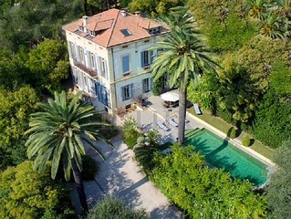 Belle Epoque Villa Cannes - Pool & Garden - Walk to Beaches & Shops