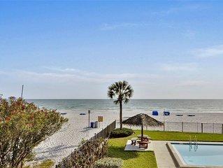 Emerald Isle #101-Beautiful UPDATES!/Direct Beachfront/SUNSETS each night!!