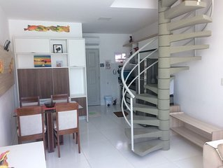 Flat no Mandakaru Residence - Duplex 02 qtos ate 06 - prox a Praia e ao calcadao