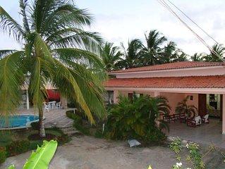 Casa Na Barra De Sao Miguel 3 Suites Climatizadas, Piscina, Sinuca, Toto...