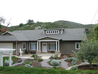 Artsy Custom Home.  Central to San Diego Beaches; Mts; Desert