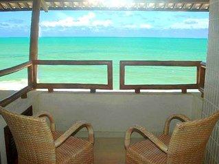 Apartamento de luxo a beira mar em Natal com varanda e piscina
