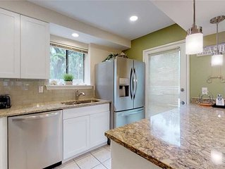 Newly renovated kitchen, steps from the community pool, sleeps 10!