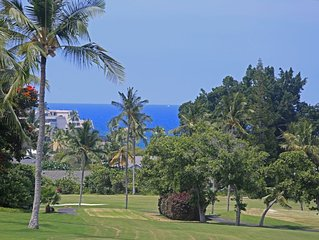 100% cancellation refund** Golf course luxury 2/2 condo w/ocean views, A/C,WiFi