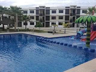 Apartment with pool in quiet tourist area