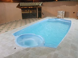 Casa 1 na praia com Piscina, Sinuca, Churrasqueira