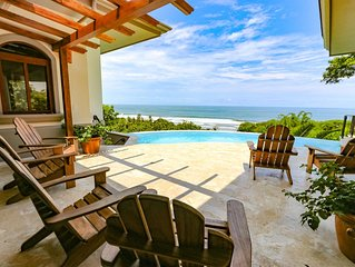 New Luxury Home, Walk to the Beach! Best Ocean Views in Dominical!