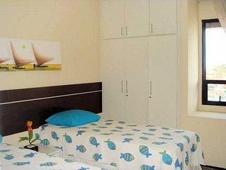 Apto 4 quartos ,3 com ar cond.,próximo a Av.Beira Mar - 1 suite,INTERNET WI-FI