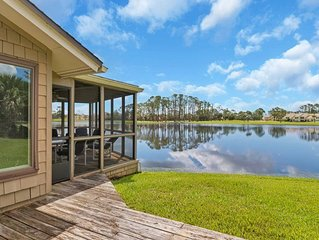 Relax and enjoy the remarkable lakefront views from this spacious Fishermans Cov