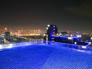 PJ Icon City Luxury Cozy Apartment Super City View