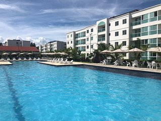 Suas Férias em Flat 3 quartos em Cond. Resort na praia de Porto de Galinhas.