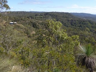 Toowoomba escarpment, quiet, secluded,  excellent views and close to town.